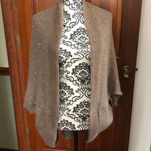 Sweaters - Beige with sequins sweater/wrap one size